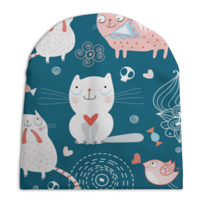 Шапка унисекс с полной запечаткой Printio Прикольные коты