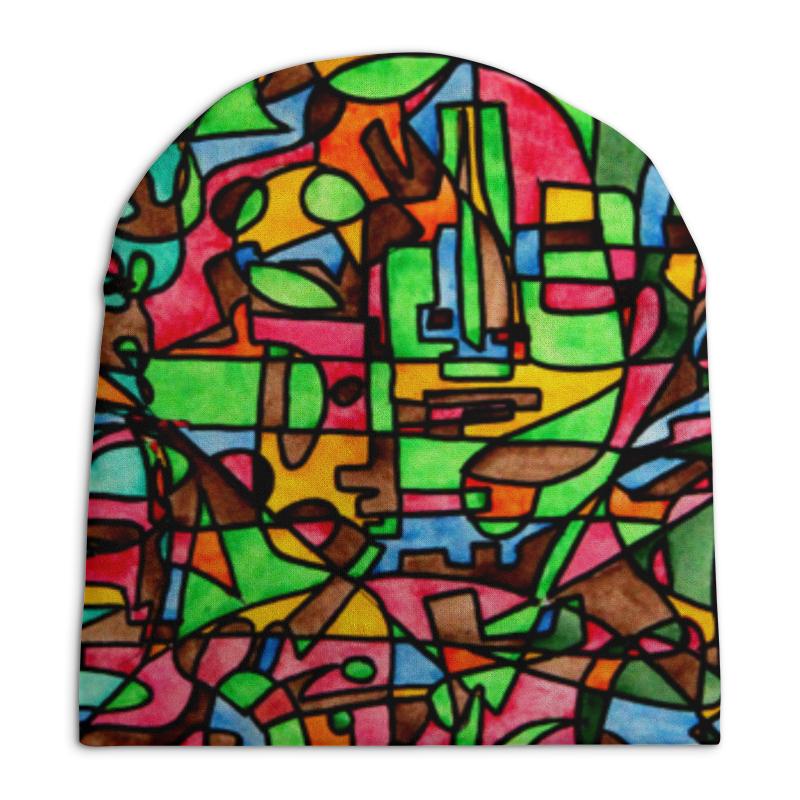 Шапка унисекс с полной запечаткой Printio Mr3d`v---=' футболка с полной запечаткой женская printio mr3d v