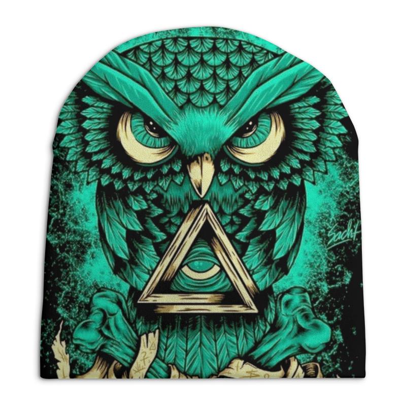 Шапка унисекс с полной запечаткой Printio Магический глаз.сова. магический пентакль соломона связанный с интеллектом