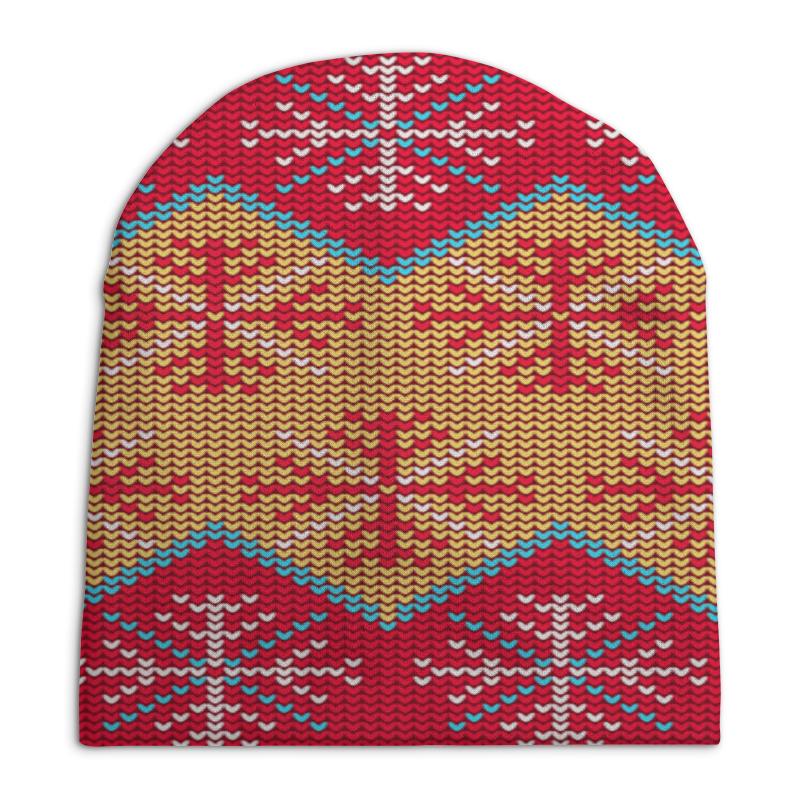 Шапка унисекс с полной запечаткой Printio Цветной узор шапка унисекс с полной запечаткой printio спиннер