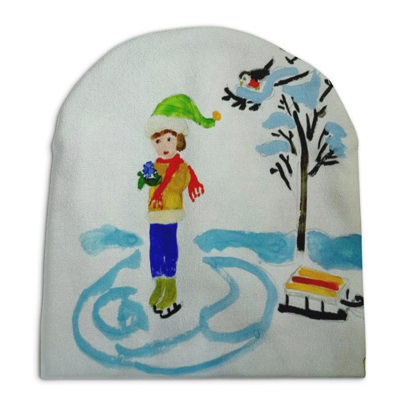 Шапка унисекс с полной запечаткой Printio Зимние забавы раскраски фабрика фантазий по номерам зимние забавы