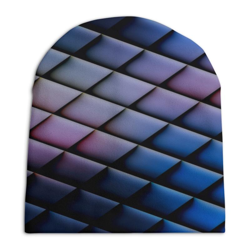 Шапка унисекс с полной запечаткой Printio Квадраты шапка унисекс с полной запечаткой printio digital playground