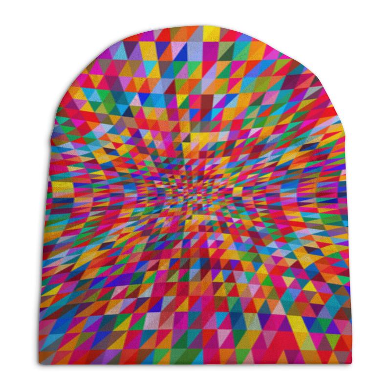Шапка унисекс с полной запечаткой Printio Абстракция треугольники шапка унисекс с полной запечаткой printio синяя абстракция