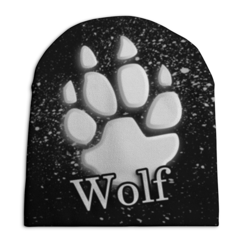 Шапка унисекс с полной запечаткой Printio Лапа волка