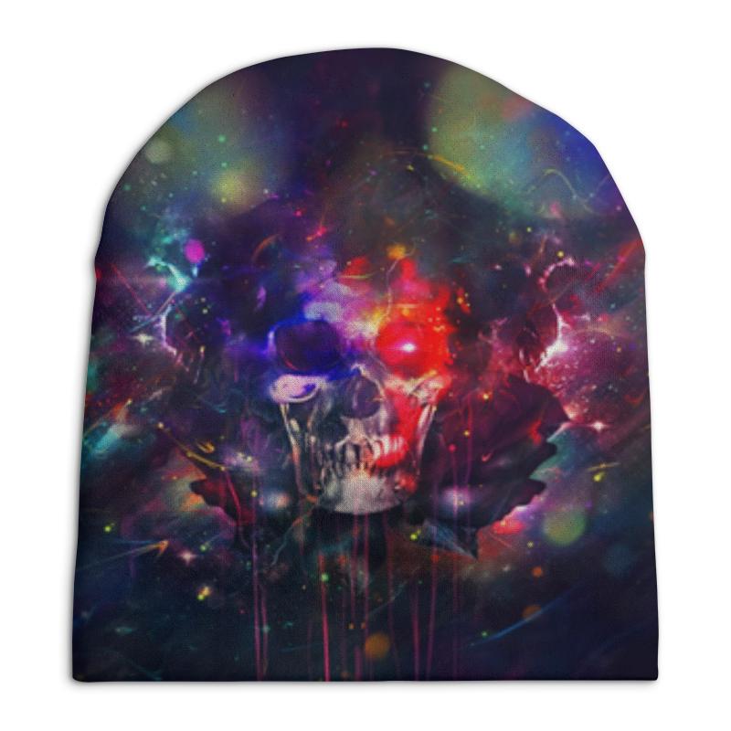 Шапка унисекс с полной запечаткой Printio Головные уборы головные уборы reima beanie nebula navy