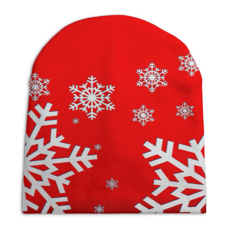 Шапка унисекс с полной запечаткой Printio Снежинки костюм маленькой снежинки 32