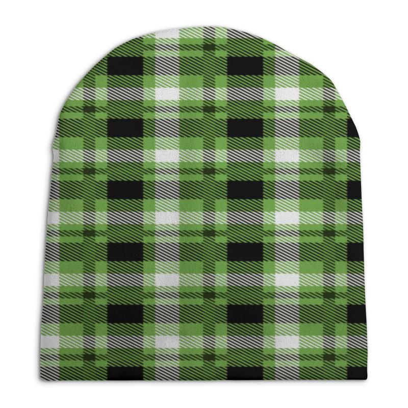 Шапка унисекс с полной запечаткой Printio Зеленая клетка зеленая шапка