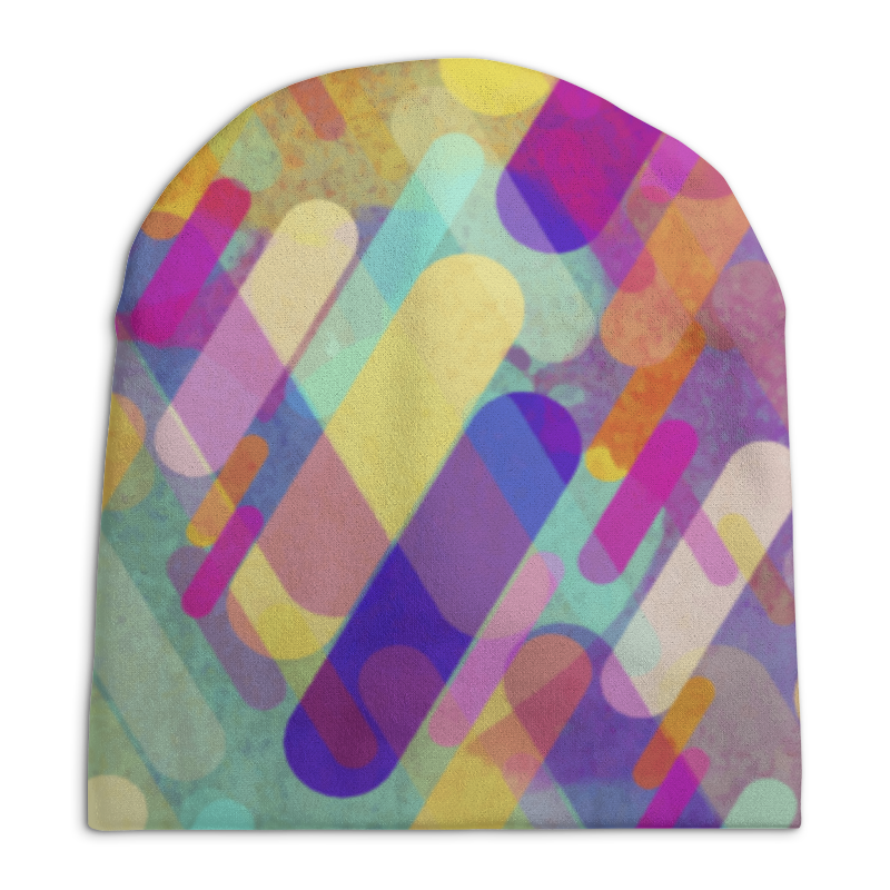 Шапка унисекс с полной запечаткой Printio Разноцветная абстракция шапка унисекс с полной запечаткой printio красная абстракция