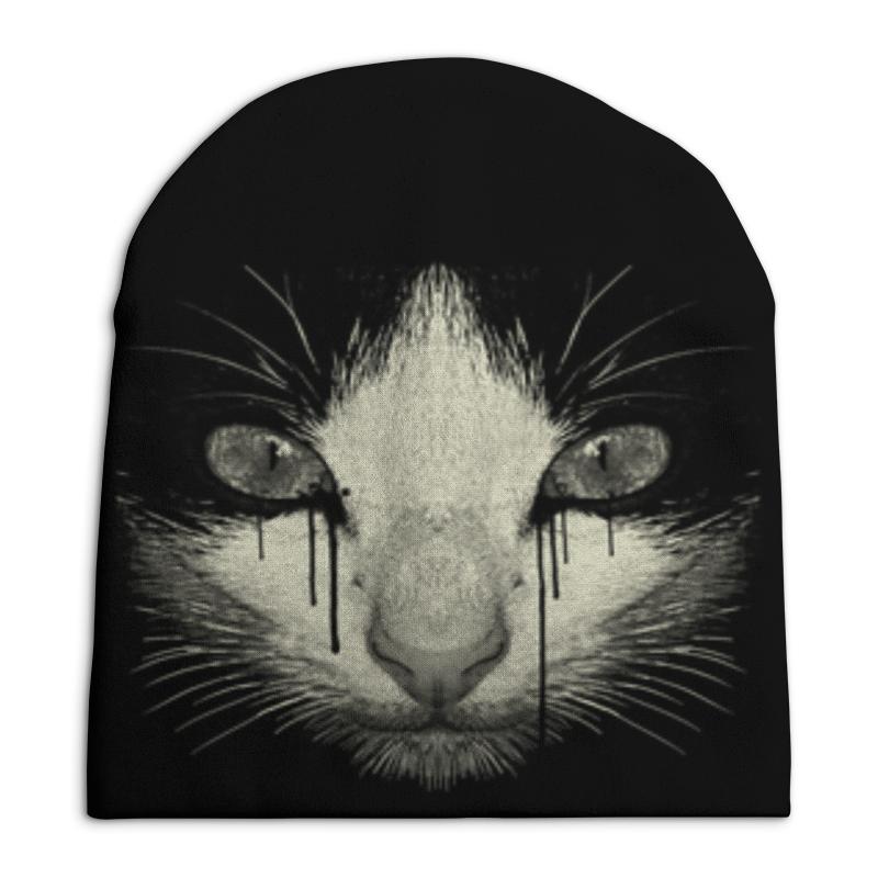 Шапка унисекс с полной запечаткой Printio Cat night festival 3d beckon cat shape touch colorful night light