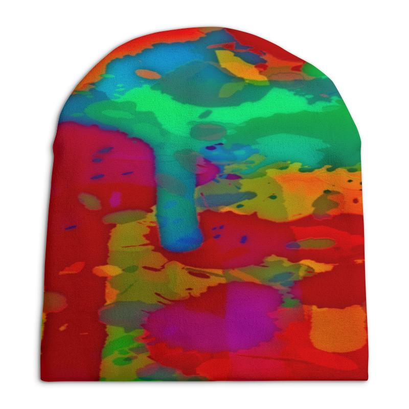 Шапка унисекс с полной запечаткой Printio Краски лета цена