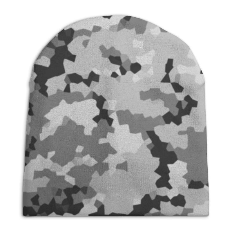 Шапка унисекс с полной запечаткой Printio Серый хаки шапка унисекс с полной запечаткой printio зеленый хаки