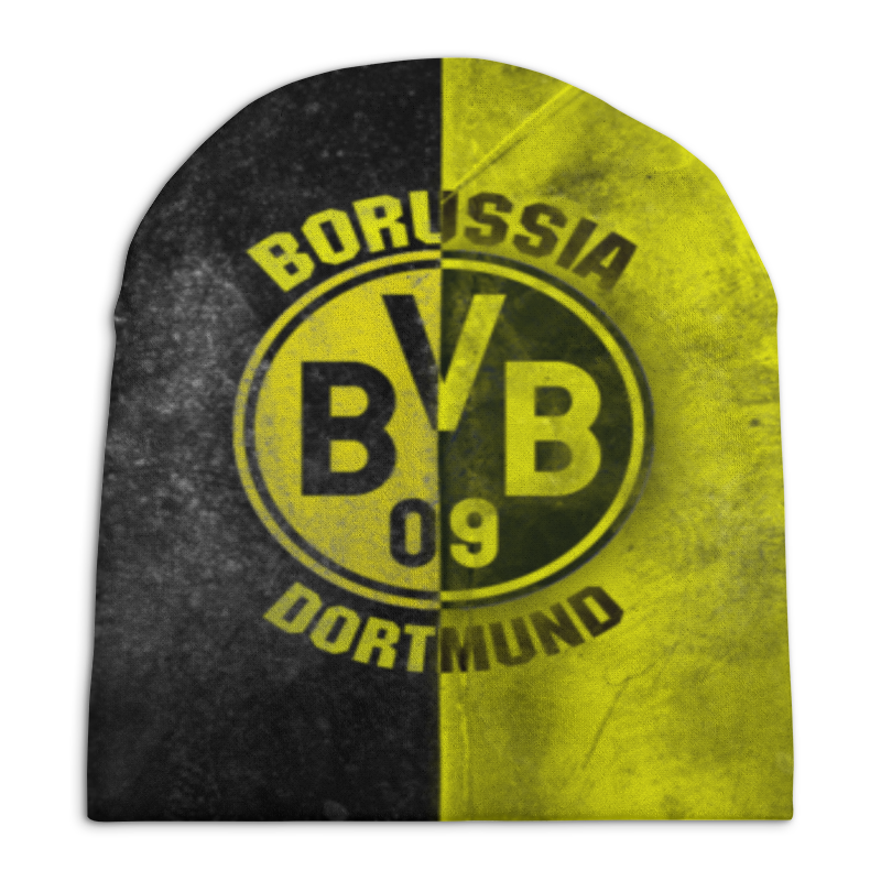 Шапка унисекс с полной запечаткой Printio Borussia dortmund кепка printio borussia dortmund