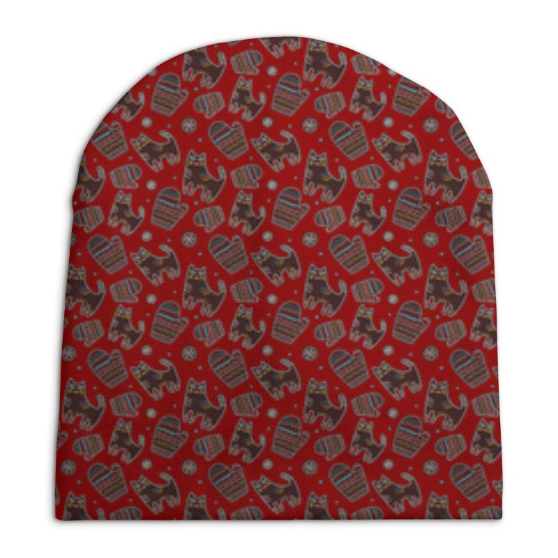 Шапка унисекс с полной запечаткой Printio Зимние коты шапка унисекс с полной запечаткой printio зимние забавы