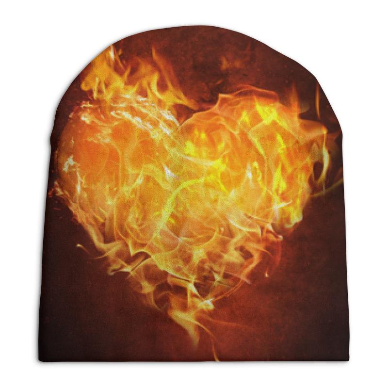 Printio Огненное сердце шапка классическая унисекс printio сердце