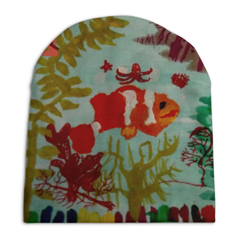 Шапка унисекс с полной запечаткой Printio Рыбки интернет магазин рыбки в аквариуме