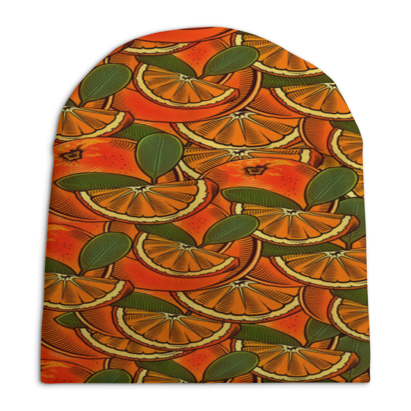 Шапка унисекс с полной запечаткой Printio Апельсины цена