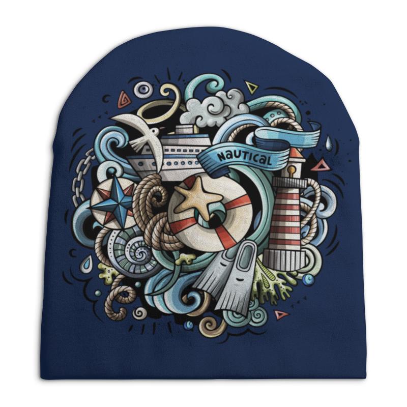 Шапка унисекс с полной запечаткой Printio Морская свитшот унисекс с полной запечаткой printio морская 1
