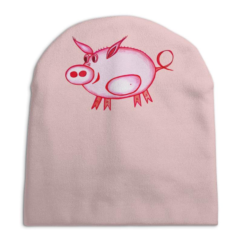 Шапка унисекс с полной запечаткой Printio Розовый поросенок ванден хейде с храбрый дикий поросенок