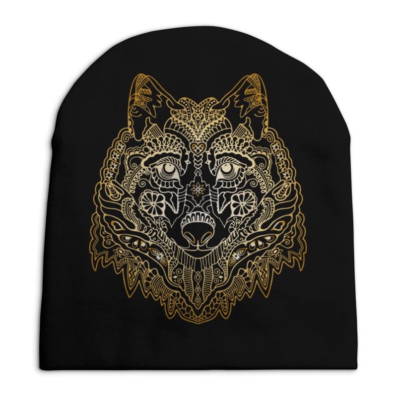 Шапка унисекс с полной запечаткой Printio Голова волка свитшот унисекс с полной запечаткой printio голова санты