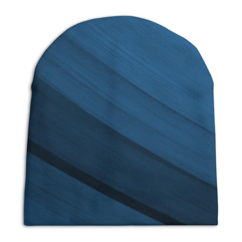 Шапка унисекс с полной запечаткой Printio Синяя абстракция сумка с полной запечаткой printio синяя абстракция