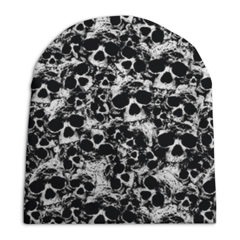 Фото - Шапка унисекс с полной запечаткой Printio Камуфляж черепа свитшот унисекс с полной запечаткой printio алфавит