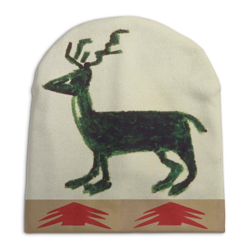 Шапка унисекс с полной запечаткой Printio Олень сумка printio подслушано олень с тату