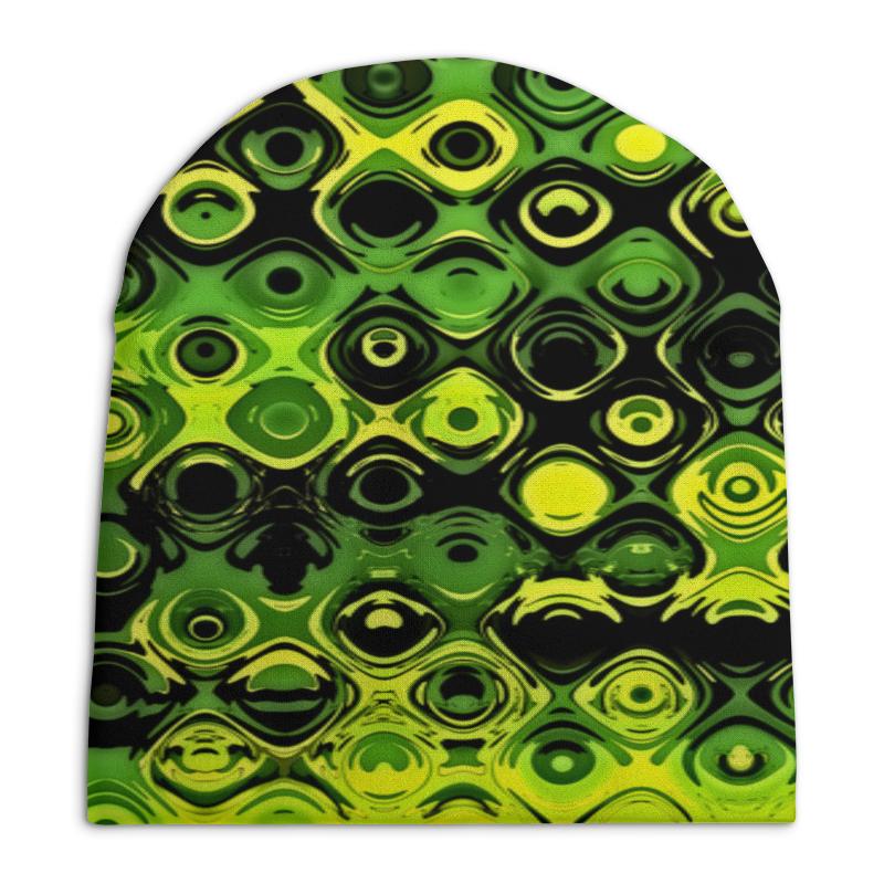 Шапка унисекс с полной запечаткой Printio Зеленый узор шапка унисекс с полной запечаткой printio спиннер