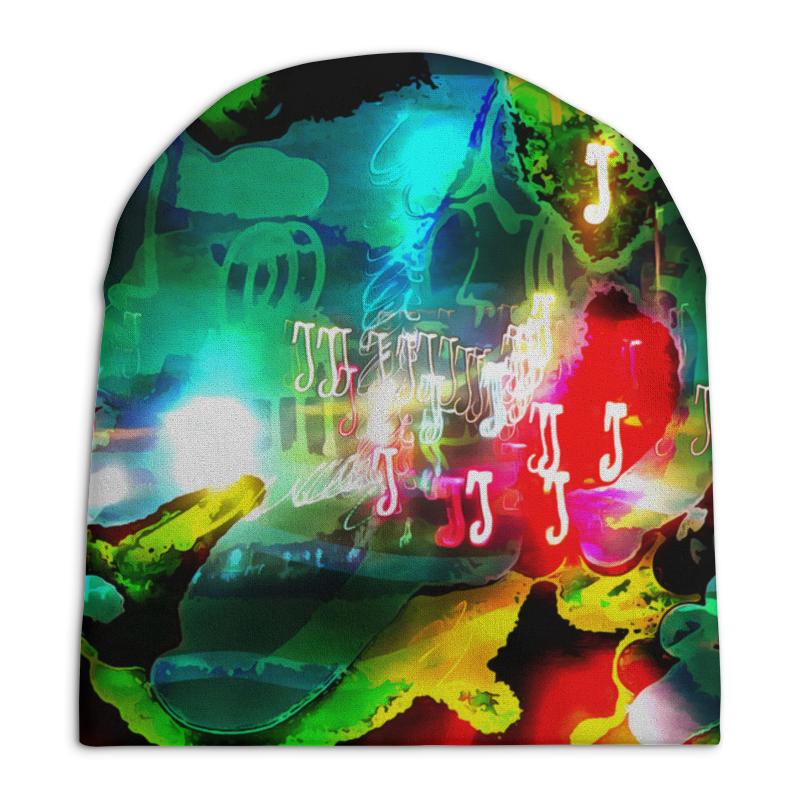Шапка унисекс с полной запечаткой Printio Abstract raster 160 леггинсы printio abstract raster 160