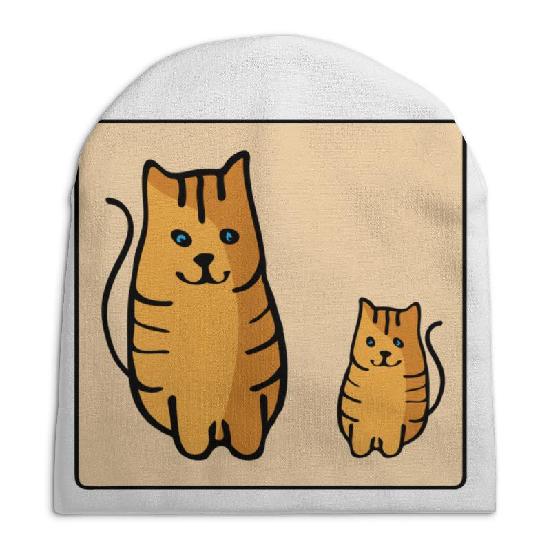 Шапка унисекс с полной запечаткой Printio Два котика, смотрящие друг на друга неизвестный друг