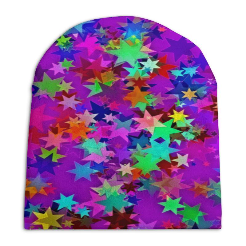 Шапка унисекс с полной запечаткой Printio Звездное конфетти детский свитшот унисекс printio звездное конфетти