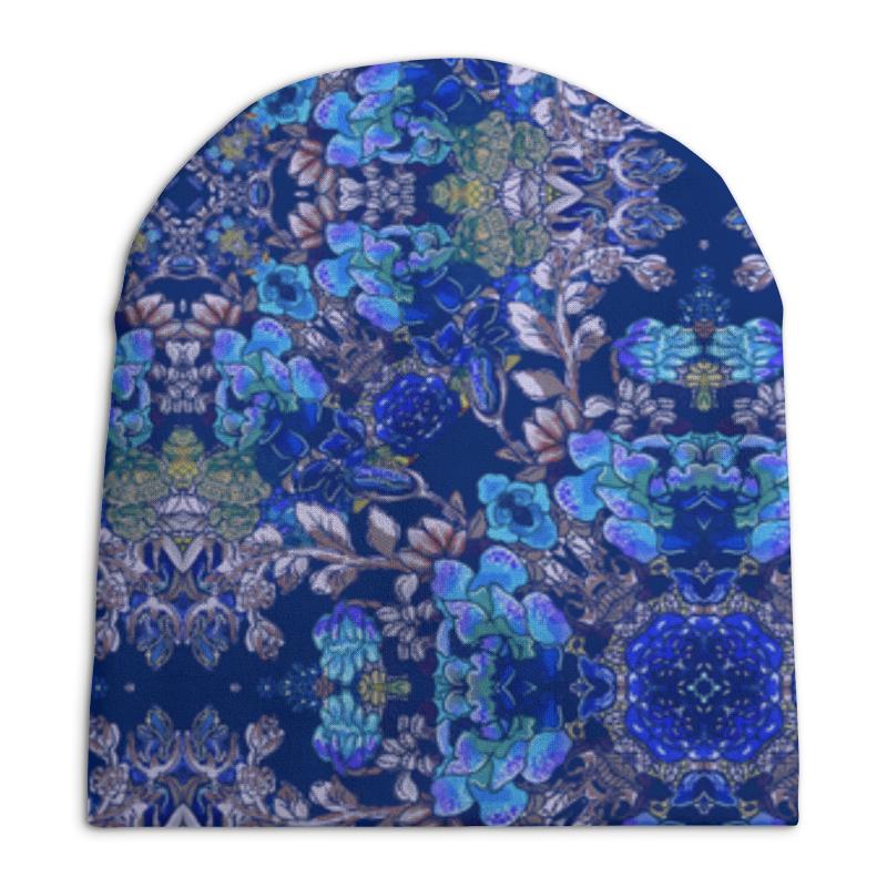 Шапка унисекс с полной запечаткой Printio Красивый растительный цветочный орнамент, паттерн шапка унисекс с полной запечаткой printio цветочный рай