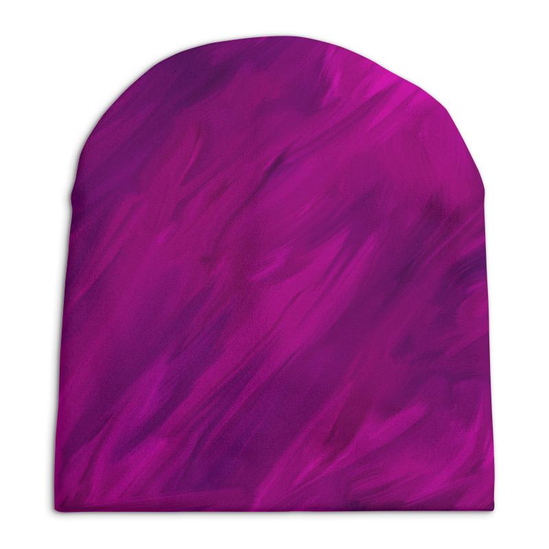 Шапка унисекс с полной запечаткой Printio Фиолетовый