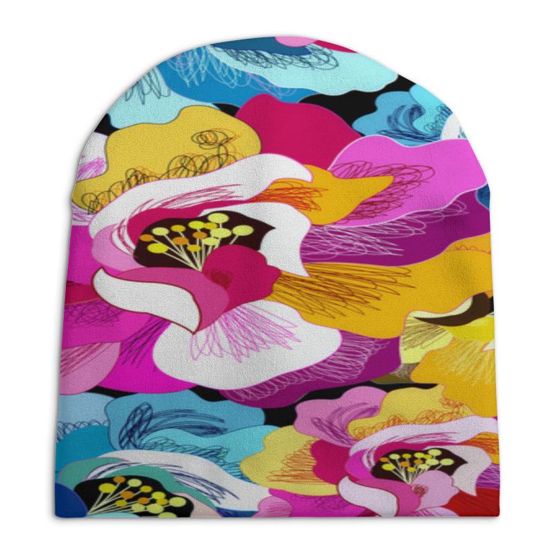 Шапка унисекс с полной запечаткой Printio Цветы шапка унисекс с полной запечаткой printio боярыня морозова василий суриков