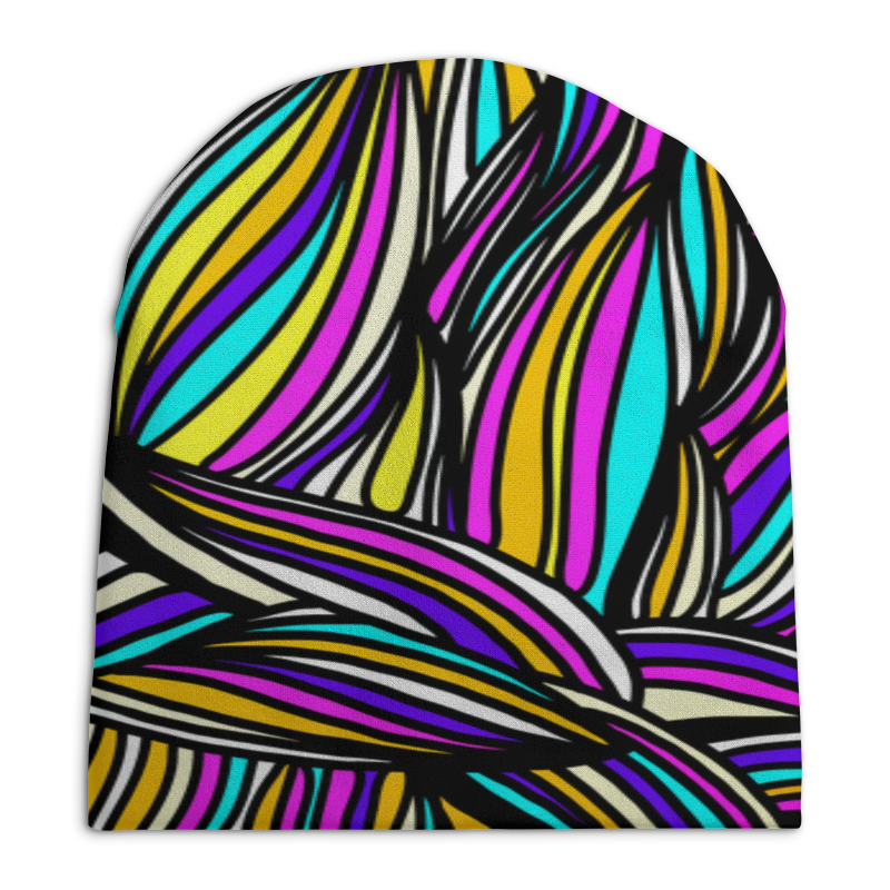 Шапка унисекс с полной запечаткой Printio Яркие полосы шапка унисекс с полной запечаткой printio сад земных наслаждений