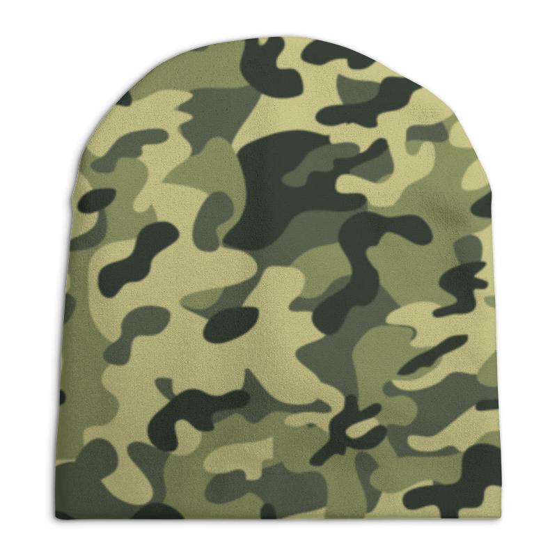 Шапка унисекс с полной запечаткой Printio Зеленый хаки футболка цвета хаки