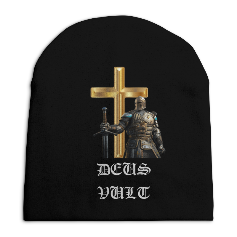 Фото - Шапка унисекс с полной запечаткой Printio Deus vult. крестоносцы стикеры для стен zooyoo1208 zypa 1208 nn