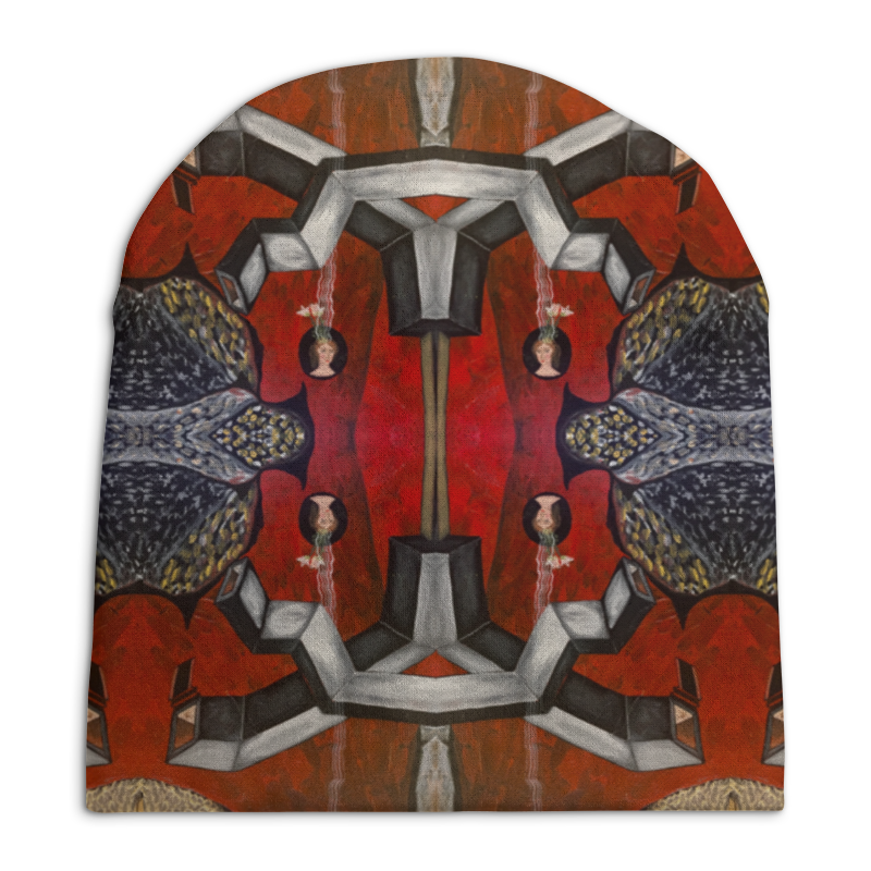 Шапка унисекс с полной запечаткой Printio My reds stylish trees landscape oil painting pattern square shape flax pillowcase without pillow inner