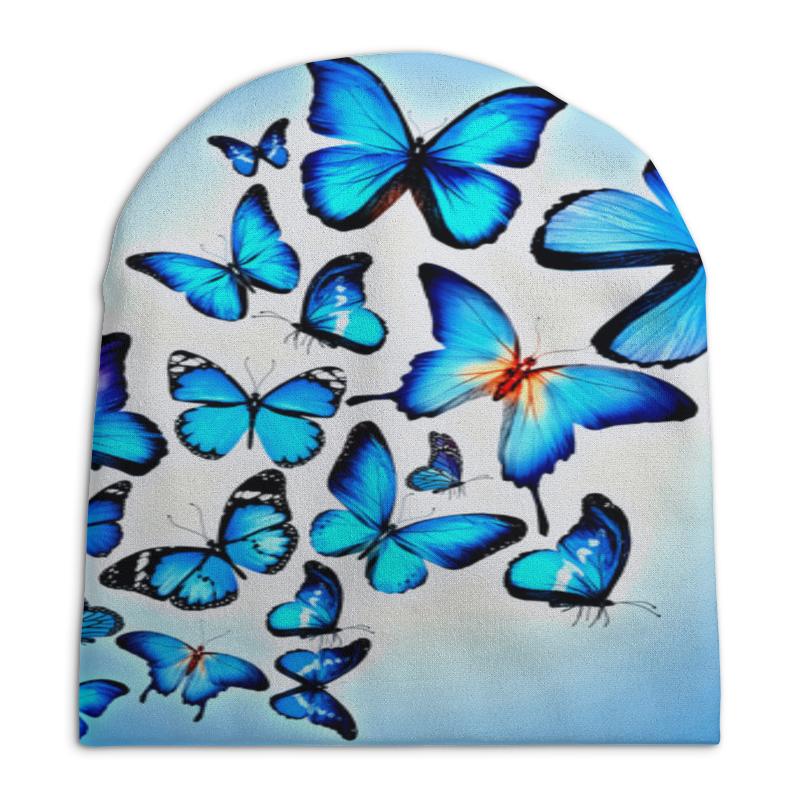 Шапка унисекс с полной запечаткой Printio Бабочки цена