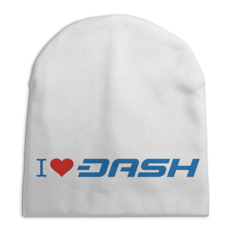 Шапка унисекс с полной запечаткой Printio I love dash бомбер printio i love dash