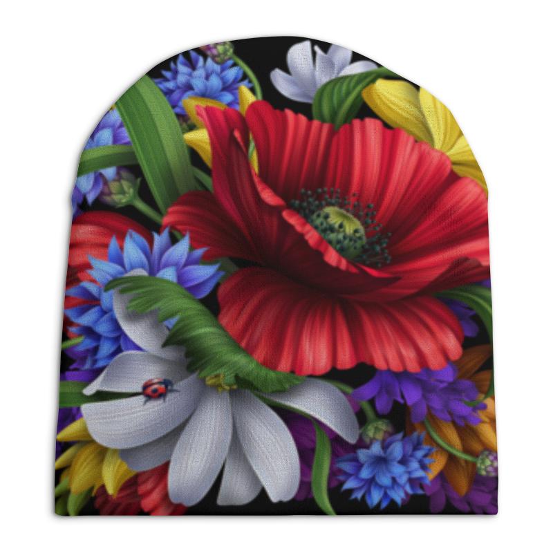 Шапка унисекс с полной запечаткой Printio Композиция цветов