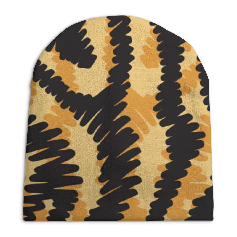 Шапка унисекс с полной запечаткой Printio Тигровый тигровый орех купить в москве