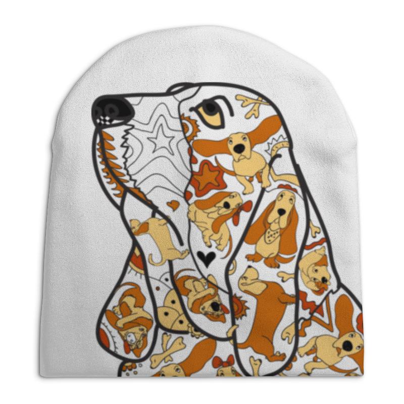 Шапка унисекс с полной запечаткой Printio Смешная собака бассет купить щенкак в донецке бассет