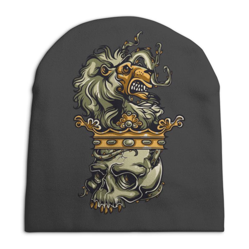 Шапка унисекс с полной запечаткой Printio Череп и лев