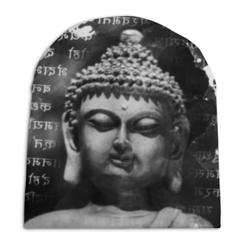Шапка унисекс с полной запечаткой Printio Будда (письмена)