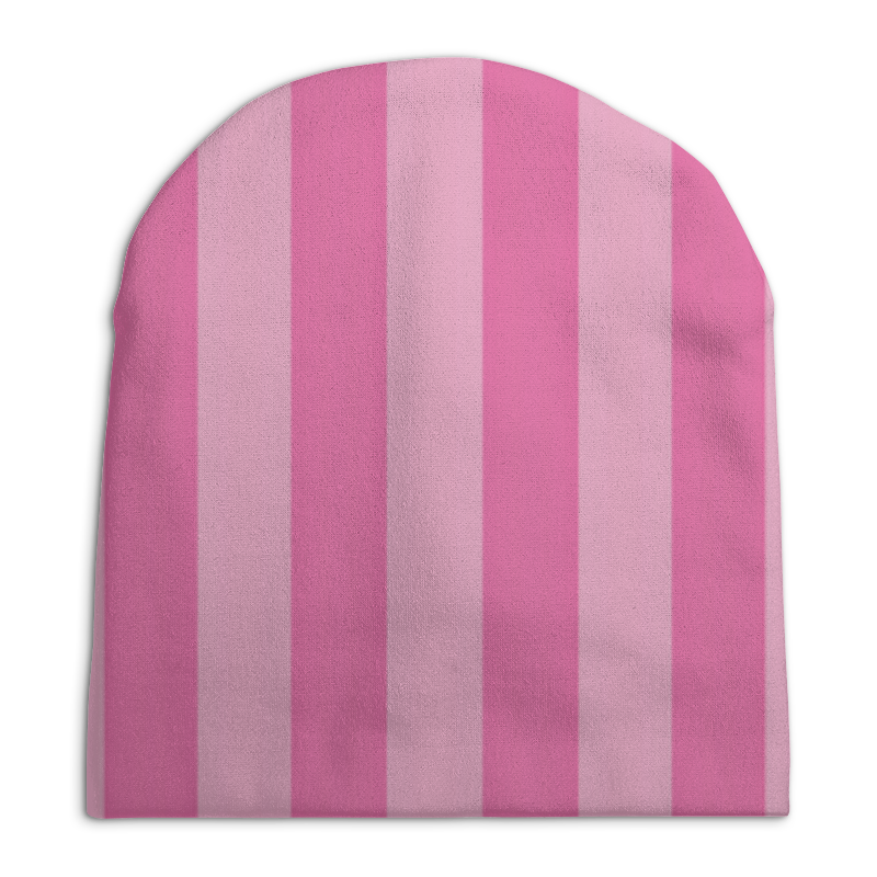 Шапка унисекс с полной запечаткой Printio Розовые полоски чешки розовые
