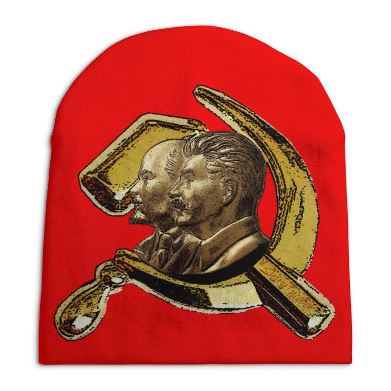 Шапка унисекс с полной запечаткой Printio Ленин, сталин, серп и молот майка классическая printio ленин сталин серп и молот