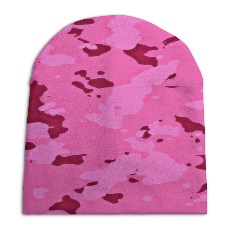 Шапка унисекс с полной запечаткой Printio Розовый камуфляж шапка унисекс с полной запечаткой printio спиннер
