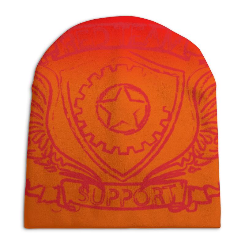 Шапка унисекс с полной запечаткой Printio Red team