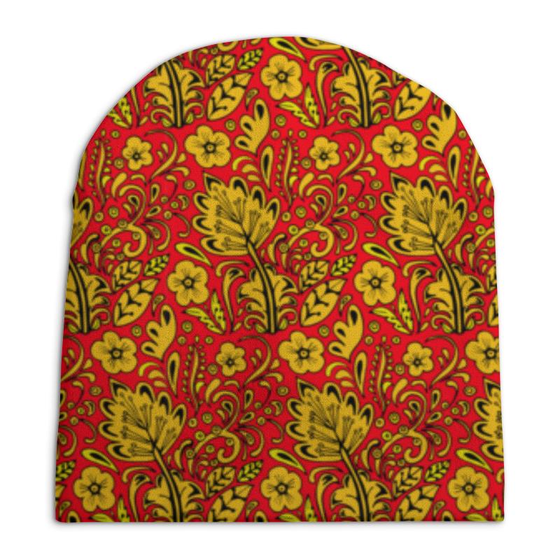Шапка унисекс с полной запечаткой Printio Хохлома printio шапка унисекс с полной запечаткой