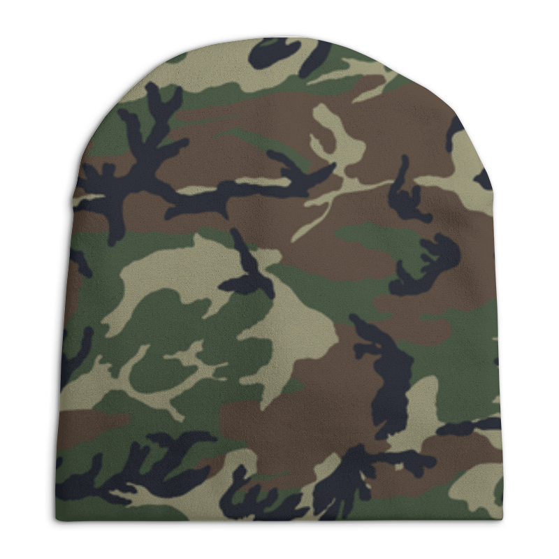 Шапка унисекс с полной запечаткой Printio Камуфляж шапка унисекс с полной запечаткой printio павел